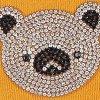Bawełniane skarpetki damskie z błyszczącą głową misia Cotton Shiny Koala Yellow Marilyn