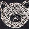 Bawełniane skarpetki damskie z błyszczącą głową misia Cotton Shiny Koala Black Marilyn