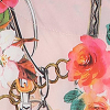 Satynowy peniuar w kwiatowy wzór Geisha Poupee Marilyn
