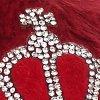 Kapcie damskie z błyszczącą koroną Acrown Poupee Marilyn